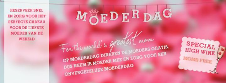 Moederdag brunch en Moederdag High Tea
